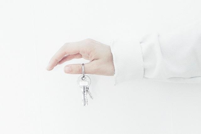 Ręka z kluczami